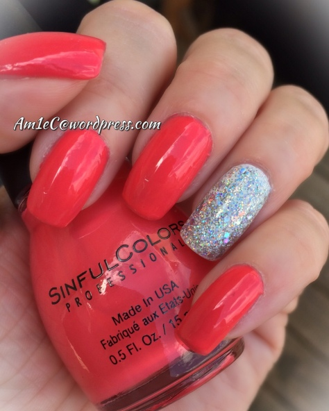 Square Hue Night Fever over iPolish and Sinful Colors Eva so Bright